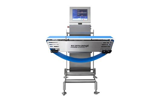 Scanvaegt SP520 Process Weigher is the ultra-robust system for dynamic weight grading