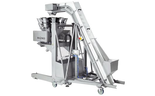 Bilwinco Mobile Multihead Weigher can be delivered with a mobile support frame