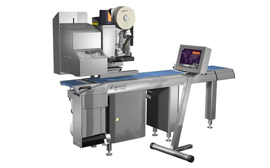 The ES7700 C-Wrap is a new automatic weighing and labelling system, which applies the label across 3 sides of the product.