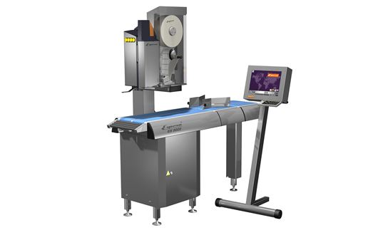 Espera ES9000 is an automatical labelling system, that prints and applies labels on up to 150 products per minute.