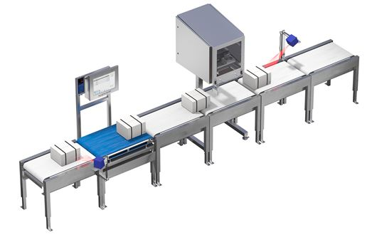 Scanvaegt Automatic Box Weigh-Labelling controls that the sealing label is placed correctly and the the barcode is clear and readable.