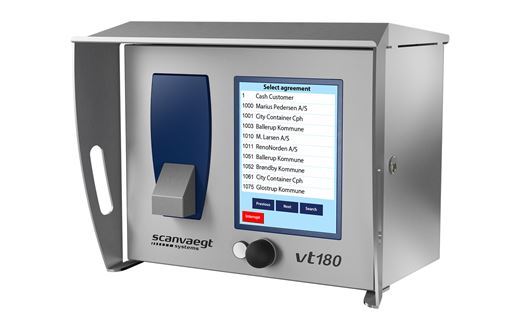 Scanvaegt VT180 Operator terminal has been specifically developed for outdoor use, handling data communication jobs related to weighing, registration and dispatch for dosage, access control and automatic identification.