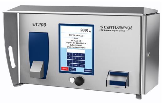 Scanvaegt VT200 Operator terminal is a powerful and reliable computer for data management related to jobs involving weighing, registration and dispatch for dosage, access control and automatic identification.