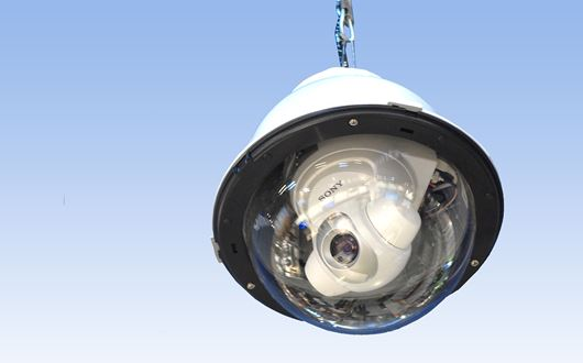 Scanvaegt Dome camera is PTZ-capable with a pan range of 360° and a tilt range of 115°, enabling users to monitor a wide area.