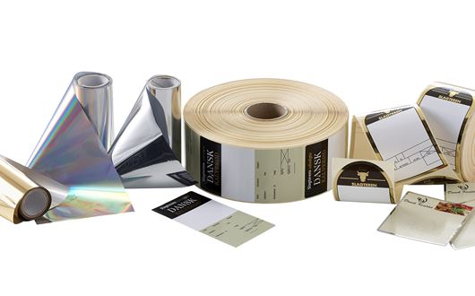 "Cold Foil labels are labels that are ""printed"" with a special layer (foil) such as silver, gold and other metallic colours, or with multi-coloured hologram foils with 3d effect."