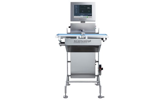 Scanvaegt ProCheck SC500 checkweigher automatically controls all products and rejects the ones with over- or underweight,