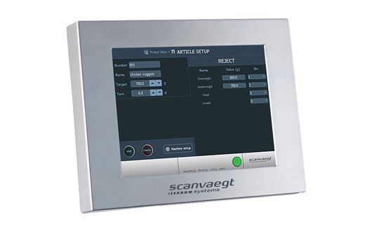 Scanvaegt ProCheck SC500 checkweigher ensuring optimum product quality and the reputation of the company.