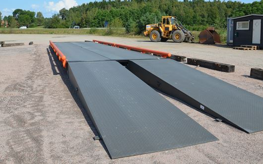Scanvaegt 5700 Weighbridge is a removable and transportable weighbridge.