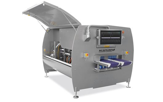 The ScanCut 1DAP portion cutter with dual lanes, a cutting rate of up to 25 cuts per second