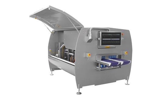 The Marelec Portio combines state of the art technology for creating a high precision yet economic portion cutting machine.
